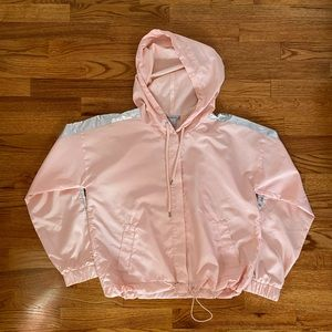 FOREVER 21 pink and holo windbreaker